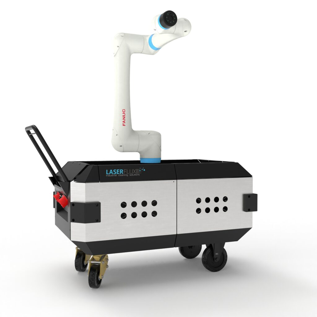 Laser cleaning robot